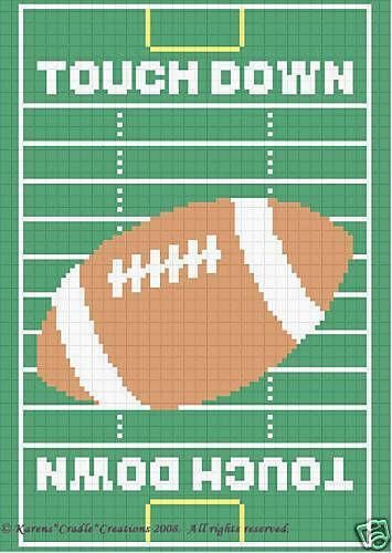 Crochet Football Afghan Patterns Ebay