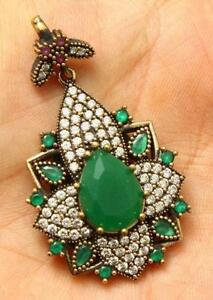 Emerald pendant ebay green emerald pendants aloadofball Choice Image