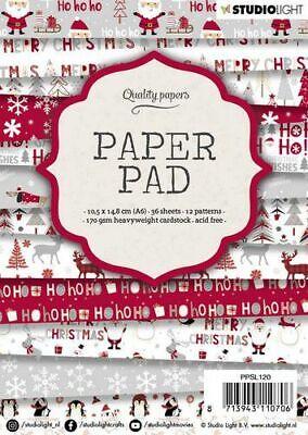 Paper-pad Papier-block Weihnacht Winter Christmas Snow A6 Studiolight PPSL120