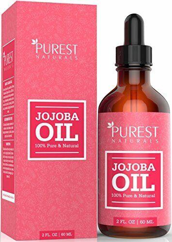 Purest Naturals Jojoba Oil - 2 fl oz. - Makeup Remover - Massage Oil, Etc.
