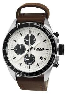 mens fossil watch leather men s fossil brown leather watch