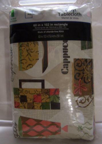 Vinyl Tablecloth Coffee Ebay