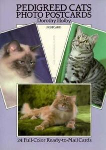Pedigreed Cats Photo-Postcard Holby, Dorothy Paperback