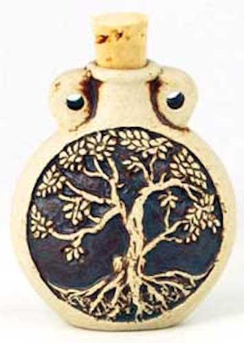 Raku Tree of Life Oil Jar and Pendant!!