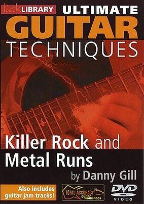 Lick Library Ultimate Guitar Techniques 40 Killer Rock   Metal Runs Video Dvd