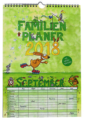 NEU 2018 Familienkalender Familienplaner 6 Spalten Familyplaner Wandkalender A4