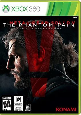 Metal Gear Solid V- The Phantom Pain Xbox 360- Brand New Factory Sealed