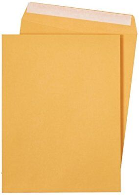 Amazonbasics Catalog Envelopes Peel Seal 9 X 12 Inch Brown Kraft 250-pack