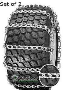 OPD Tire Chains (Set of 2) 18X9.50-8 18x9.5-8 18X8.5-10  2-link with Tighteners