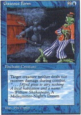 4 Gaseous Form ^ Blue Legends Mtg Magic Common 4x x4