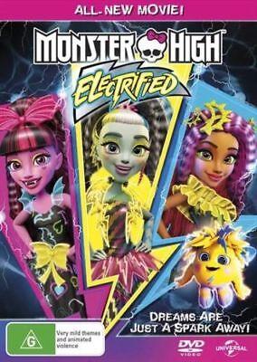 MONSTER HIGH: Electrified DVD 2017 FAMILY TV MOVIE BRAND NEW RELEASE - Monster High Tv