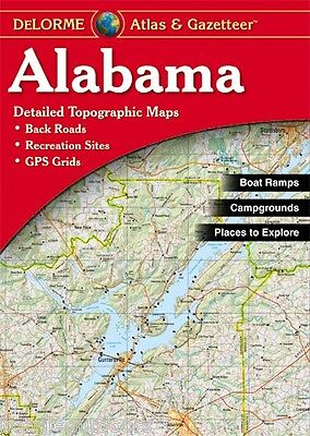 NEW Delorme Alabama AL Atlas and Gazetteer Topo Road Map Topographic Maps