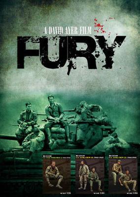 1:35 Resin Figure Kit Model WW2 US FURY Tank Crew With 5 Soldiers Unpainted
