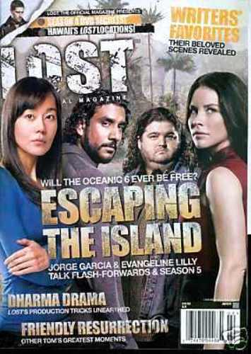 LOST OFFICAL MAGAZINE - DHARMA DRAMA - ESCAPING THE ISLAND CAST COVER #20A