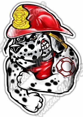 Fire Dalmatian Fireman Firefighter Dog Car Bumper Vinyl Sticker Decal 4