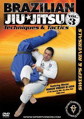 Brazilian Jiu-Jitsu Techniques & Tactics DVD Sweeps and Reversals Free Shipping