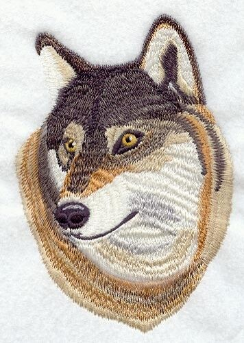 Embroidered Fleece Jacket - Red Wolf M1689 Sizes S - XXL
