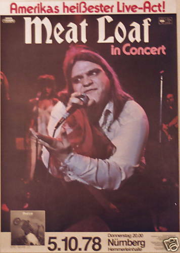 MEAT LOAF CONCERT TOUR POSTER 1978 BAT OUT OF HELL