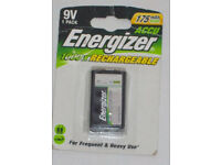 BNIP ENERGIZER 175 mAh NiMH ACCU RECHARGEABLE 9V BATTERY 1 Pack HEAVY & FREQUENT