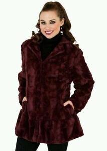 Ladies Long Faux Fur Coats