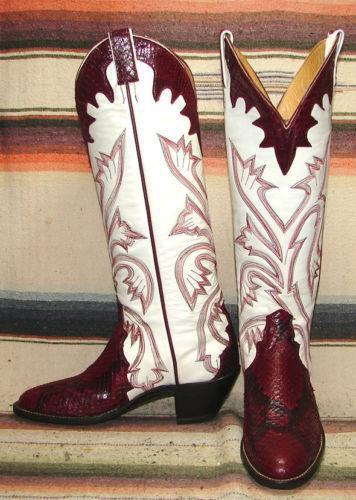 Vintage Womens Red Cowboy Boots Ebay
