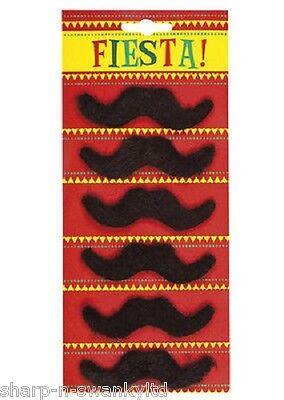 6 X Herren 70er Jahre Mario Mexikanisch Falsch Zum Aufkleben Schnurrbart