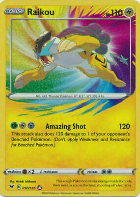Amazing Rare Raikou 050//185 Vivid Voltage MINT Pokemon card  POSSIBLE PSA 10????
