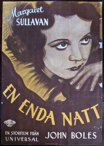 ONLY YESTERDAY - ORIGINAL 1933 SWEDISH LB POSTER - RARE MARGARET SULLAVAN ART!!