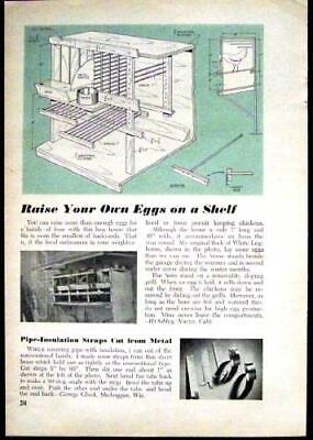 Chicken Coop Small Poultry House 1948 How-to Build Plans 6 Hens