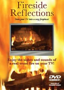 Fireside Reflections DVD-new & sealed-Virtual fire Christmas +