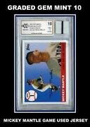 Mickey Mantle Game Used