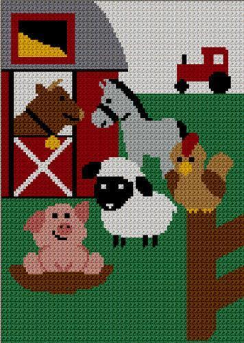 Crochet Animal Afghan Ebay