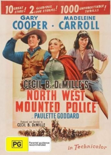 NORTH WEST MOUNTED POLICE DVD 1940 Brand New R4 Gary Cooper Madeleine Carroll