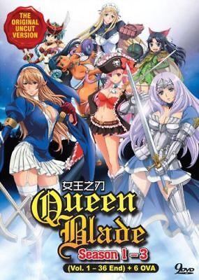 Queens Blade  Season 1  3    6 Ova Dvd  Vol 1 To 36 End  Uncut English Audio