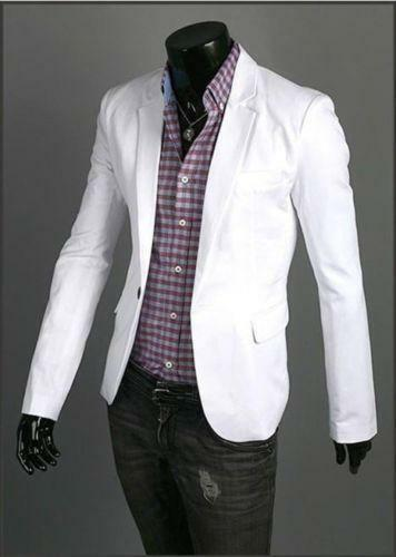 Mens White Blazer | eBay