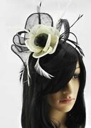 Black and White Hair Fascinator