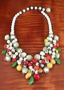 Vintage Glass Fruit Necklace