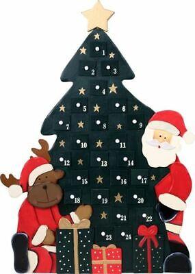 Calendario Avvento Albero Natale con Cassetti in Legno