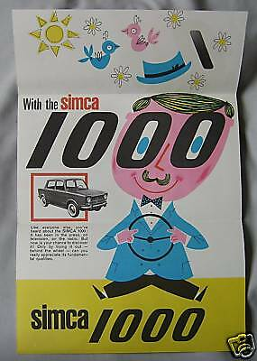 Simca 1100 promotional Fold Out leaflet