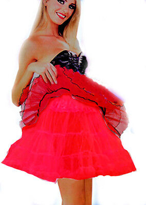 ll Tutu Petticoat Underskirt Red Devil Halloween New 8-14 (Rock Roll Kostüme Halloween)