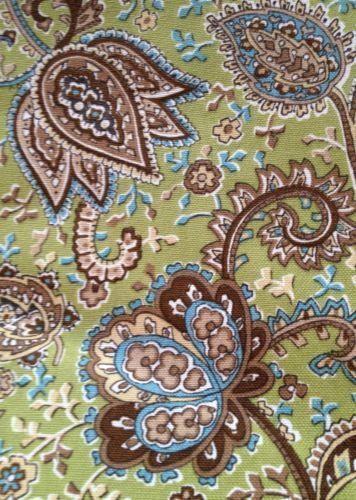 Turquoise Paisley Fabric Ebay