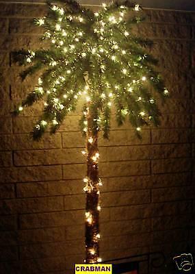 CHRISTMAS TREE XMAS 7' FT 300 LIGHTED TROPICAL PALM TREE 7 FOOT (JIMMY BUFFETT)