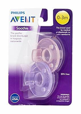 Philips Avent Soothie Pacifier Pink/Purple 0-3 Months 2 Count