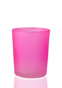 Wedding-Decoration-Tealight-Votive-Candle-Holder-Pink-Frosted-Glass-many-avail