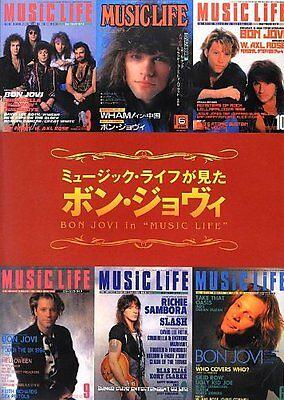 Bon Jovi in MUSIC LIFE JAPAN MAGAZINE PHOTO BOOK Chronicle David Bryan Alec Joh