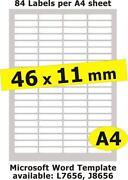 Clear Inkjet Labels