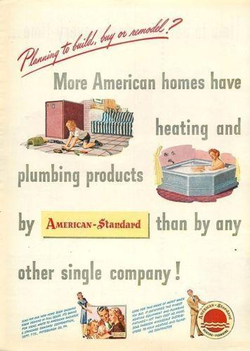 American Standard Ad Advertising Ebay