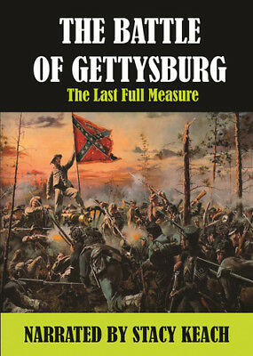 Battle of Gettysburg: Last Full Measure Narrated by Stacy Keach [New DVD] Manu