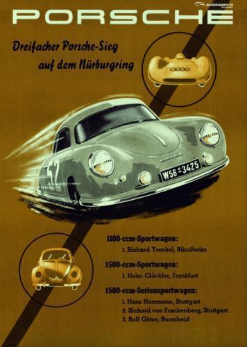 Vintage Porsche Poster Ebay