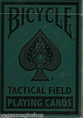 Tactical Field Deck Bicycle Playing Cards Poker Size USPCC New Green or -